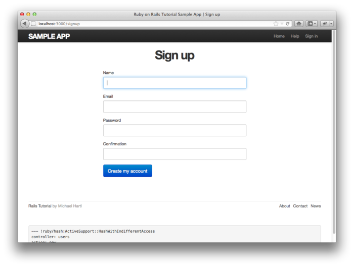 Chapter 7 Sign Up Ruby On Rails Tutorial 40 Version 2nd Ed