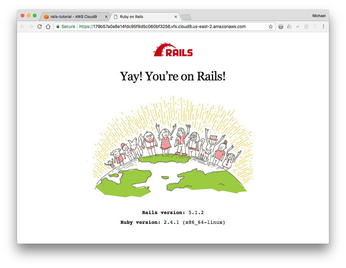Chapter 1: From zero to deploy | Ruby on Rails Tutorial (Rails 5