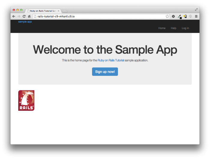 Ruby on rails tutorial: developing a demonstration application.