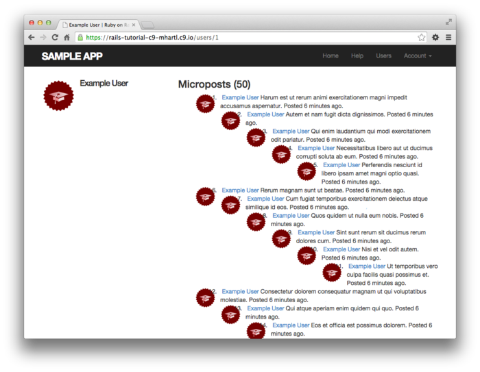 Chapter 13: User microposts | Ruby on Rails Tutorial (Rails 5